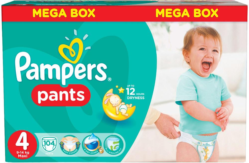 Купить Трусики-подгузники Pampers Pants 4 Maxi 9-15кг 104шт с ... 498801c05bf