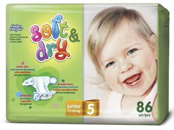 Купить Helen Harper 5 Soft   Dry Подгузники Junior 11-25кг 86шт с ... 5835be04f9c