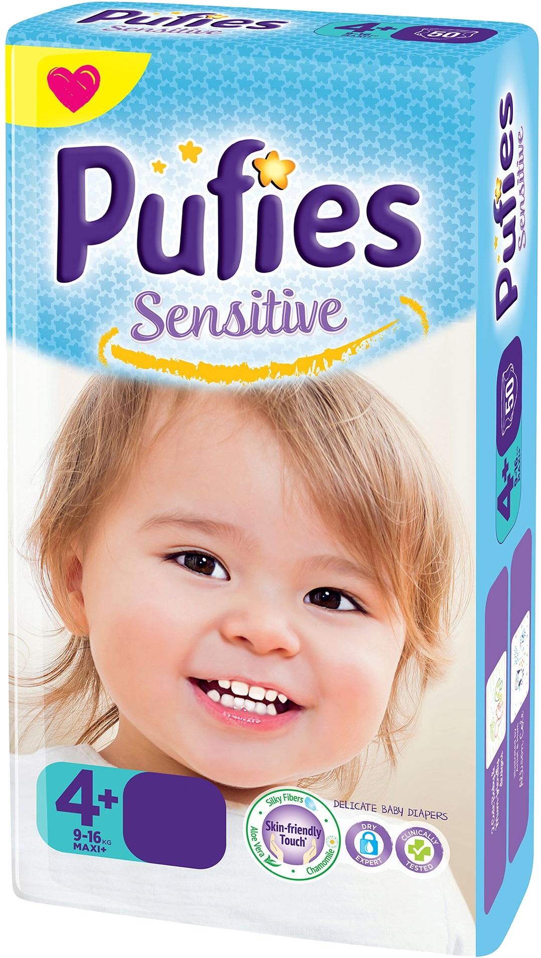 Купить Подгузники Pufies Sensitive 4+ Maxi Plus 68 с бесплатной ... 1269a20ca97
